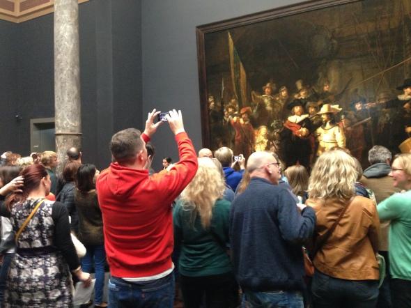 Drukte in het Rijksmuseum